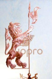 Флюгер медный Геральдический лев