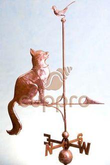 Флюгер Кошка с птичкой