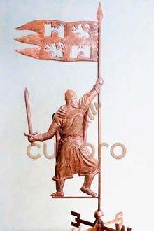 Флюгер Рыцарь с флагом