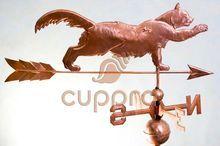 Флюгер кошка на крыше Арт. 11009