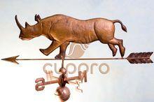 Флюгер медный Носорог