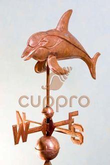 Флюгер медный Дельфин