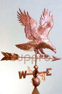 Флюгер медный Орел охотится