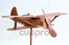 Флюгер медный Самолет